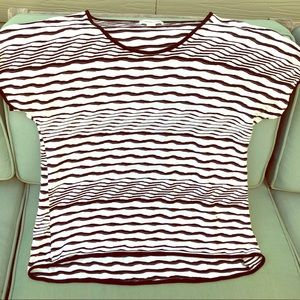 Soft and stretchy black and ivory T-shirt